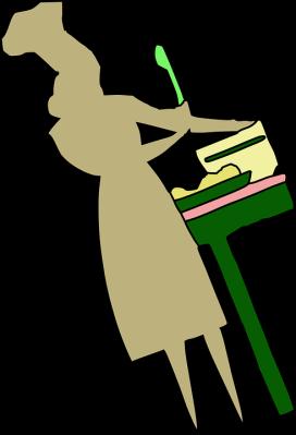woman mixing food